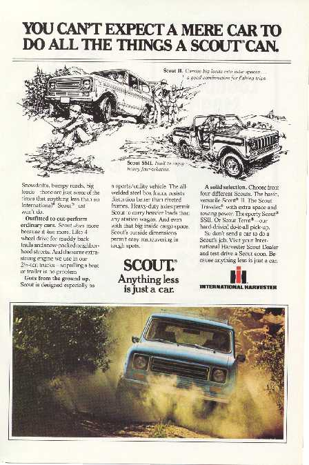 Scout II Advertisement