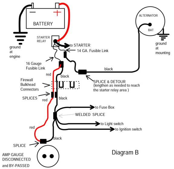 ammeter bypass diagram